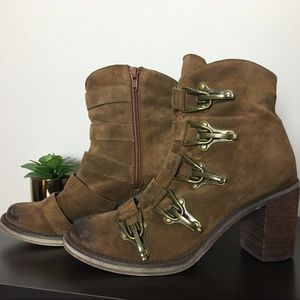 Jeffrey Campbell Climber Tan Booties